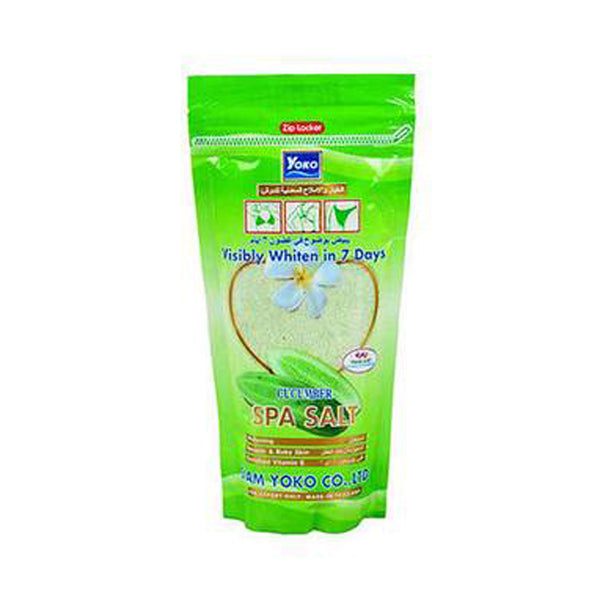 Yoko Cucumber Spa Salt, Skin Whitening, Enriched Vitamin E 300g