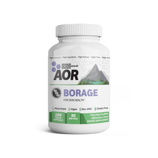 Advanced Orthomolecular Research AOR Borage 180 Capsules 1044mg (For Skin Health)
