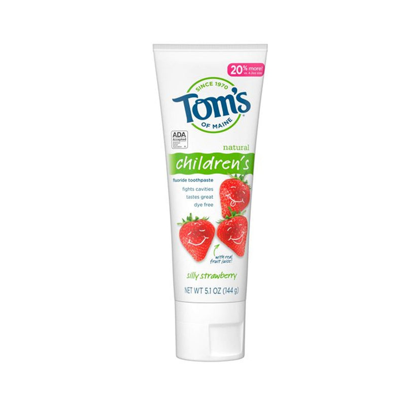 Tom's of Maine Anticavity Fluoride Children's Toothpaste, Kids Toothpaste, Natural Toothpaste, Silly Strawberry