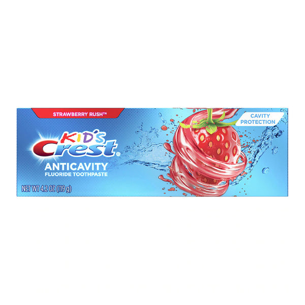 Kid's Anticavity Cavity Protection Fluoride Toothpaste Strawberry Rush 4.2oz