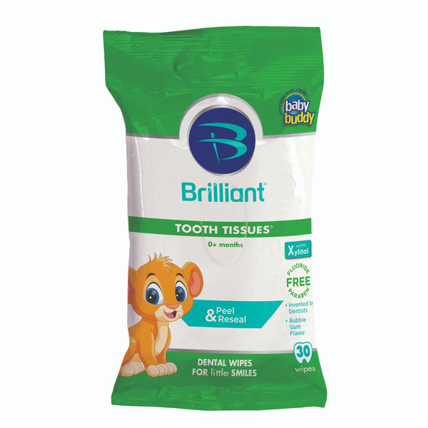 Baby Buddy Newborn Baby Dental Tooth & Gum Wipes - 30 Sheets