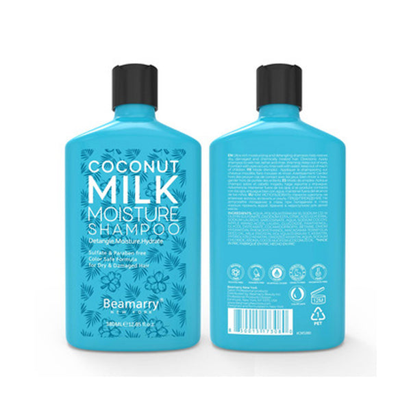 Natural Organic Coconut Milk Moisturize Hair Shampoo for Damaged Hair