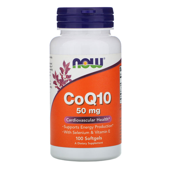 Now Foods CoQ10 50 Mg,50 Softgels (Cardiovascular Health)