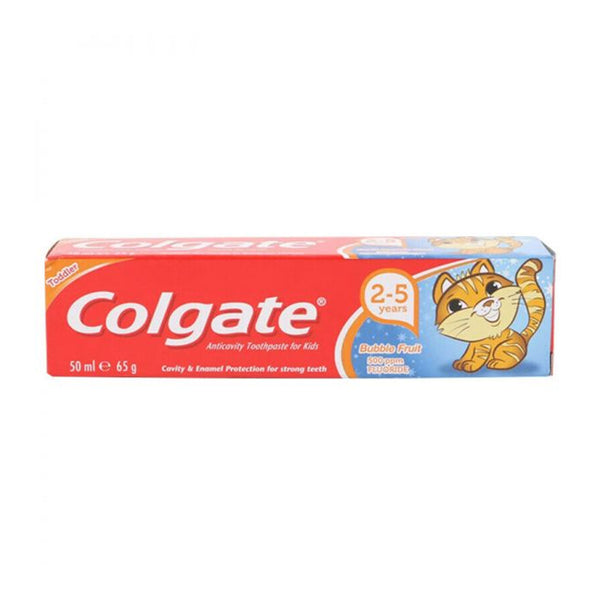 Colgate Kids Toothpaste 2-5 Years Bubble Fruit Mouth Dental Oral Care 50ml
