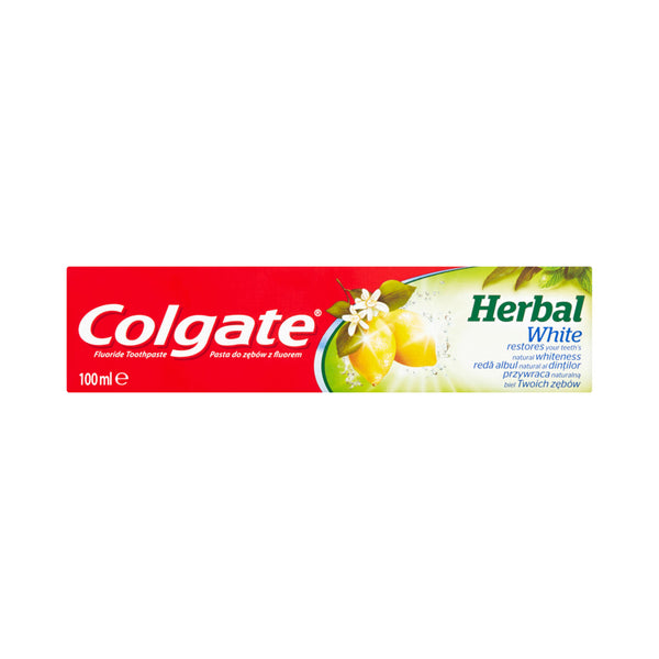 COLGATE HERBAL WHITE OIL LEMON TOOTHPASTE WITH FLUORIDE 100ML