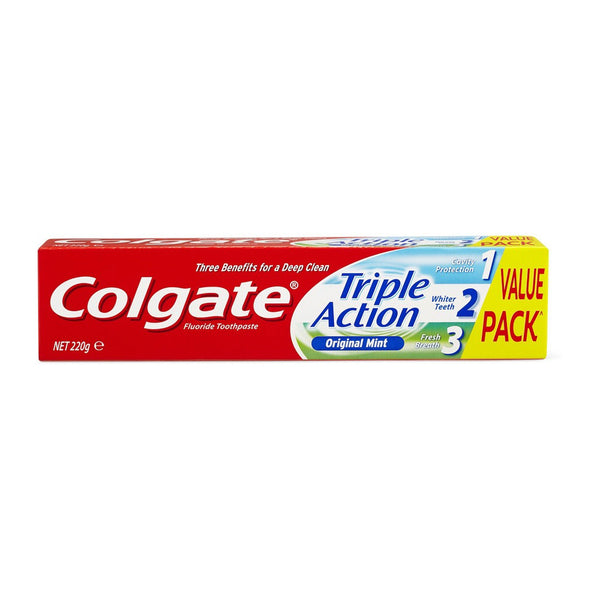 Colgate Triple Action Toothpaste 220g - Original Mint