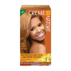 Crème Of Nature Exotic Rich Liquid Permanent Hair Color With Shea Butter Conditioner - Honey Blonde C41