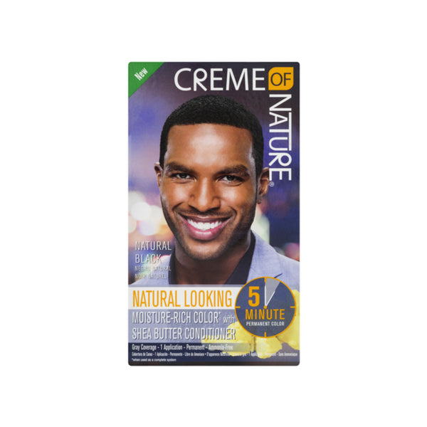 Creme of Nature Permanent Hair Color for Men Natural Black