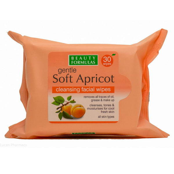 Beauty Formulas Gentle Soft Apricot Cleansing Facial Wipes - 30 Wipes
