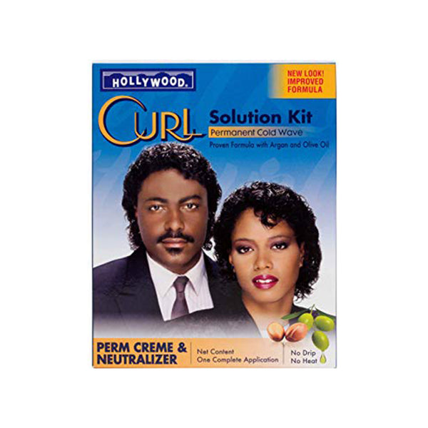 Hollywood Curl Solution Kit Proven Formula With Argan And Olive Oil