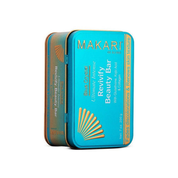 Makari Blue Crystal Revivify Beauty Bar Soap- Lightening, Brightening Cleansing Exfoliating Soap Bar With Natural Glutathione