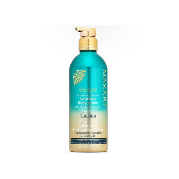 Makari Blue Crystal Reviving Body Lotion 16.8 oz - Lightening, Brightening, Moisturizing Cream with Natural Glutathione