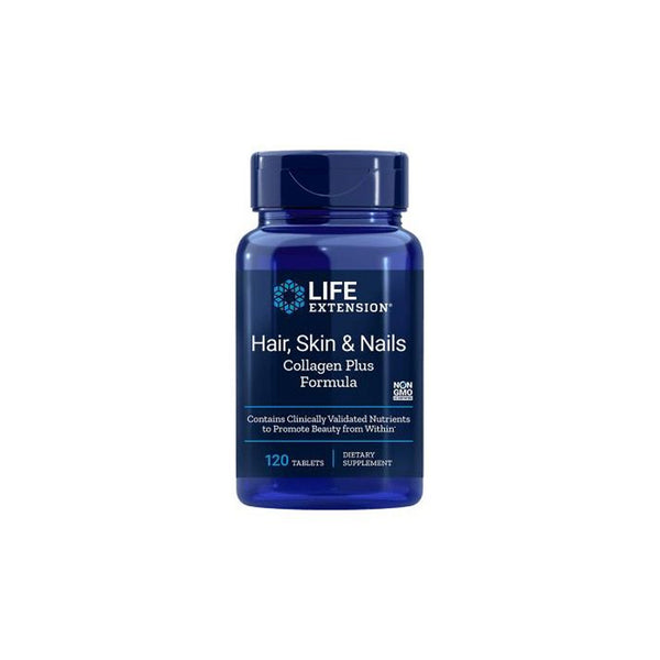 Life Extension Hair, Skin, & Nails Collagen Plus Formula - 120 Tabs