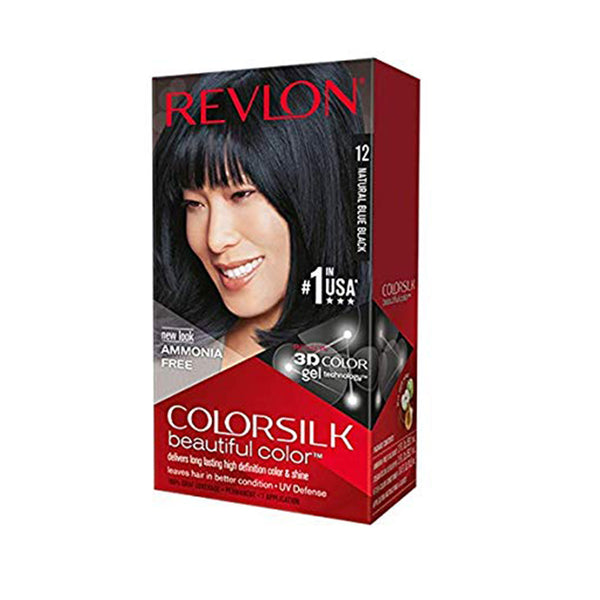 Revlon Colorsilk Beautiful Color, Natural Blue Black [12]