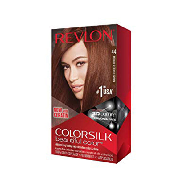 Revlon Colorsilk Beautiful Color, Medium Reddish Brown, 1 Count
