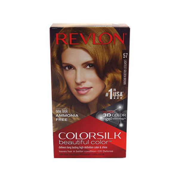 Revlon ColorSilk Beautiful Color Hair Color, 57 Lightest Golden Brown