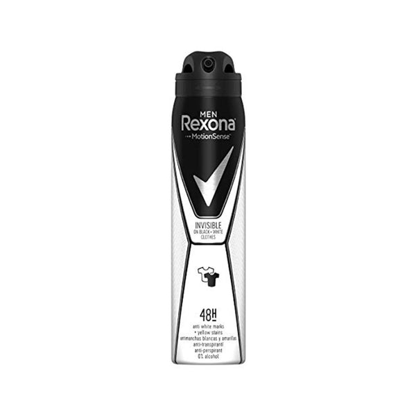 Rexona 1 Men Invisible Black + White Anti-Perspirant Deodorant Spray, 200Ml