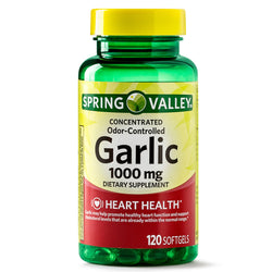 Spring valley Odorless Garlic Softgels, 1000mg, 100 Count