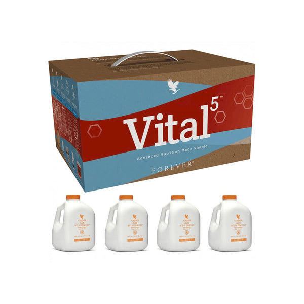 Vital 5 with Forever Aloe Bits n Peaches
