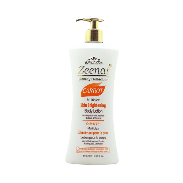 Zeenat Carrot Multiplex Skin Brightening Body Lotion 500ml