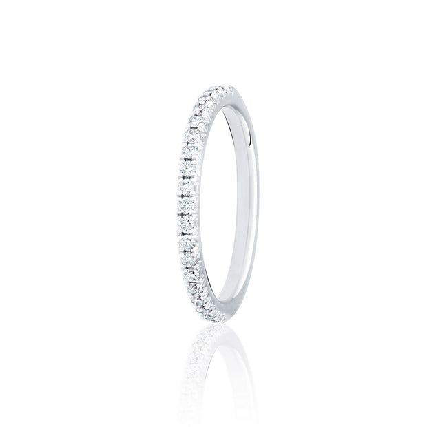 MY Diamond Set Round Brilliant Cut French Pave Band