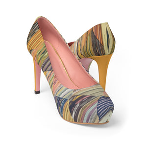 Platform Heels with ethnic colorful patterns