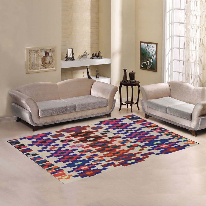Berber rug square pattern Area Rug7'x5'