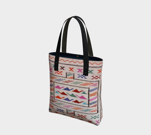 Berber style bag with pink pattern