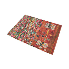 Load image into Gallery viewer, Red multicoloured berber and Moroccan rug design Area Rug7'x5'