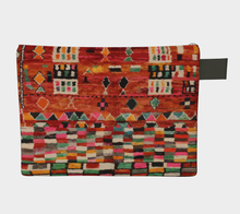 Load image into Gallery viewer, Moroccan vintage zipper carry-all red and bohemian style pattern