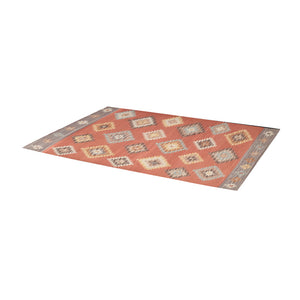Moroccan rug Red geometric pattern