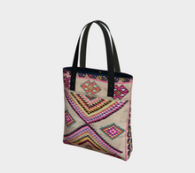 Load image into Gallery viewer, pink berber pattern bag moroccan inspiration