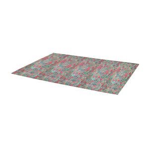 Moroccan multicoloured mosaic inspiration Area Rug 10'x3'3''