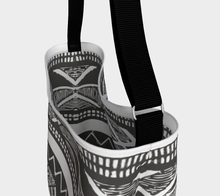 Load image into Gallery viewer, Black and grey moroccan vintage bag