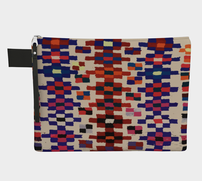 Vintage berber zipper carry-all bohemian pattern