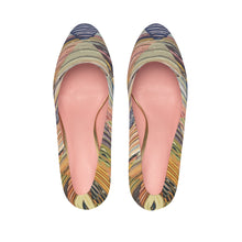 Load image into Gallery viewer, Platform Heels with ethnic colorful patterns