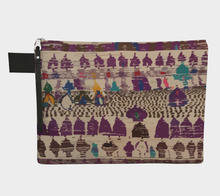 Load image into Gallery viewer, Purple bohemian zipper carry-all berber vintage and bohemian pattern