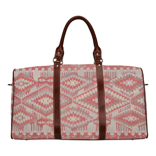 Ethnic red and grey vintage travel bag Waterproof Travel Bag/Small (Model 1639)