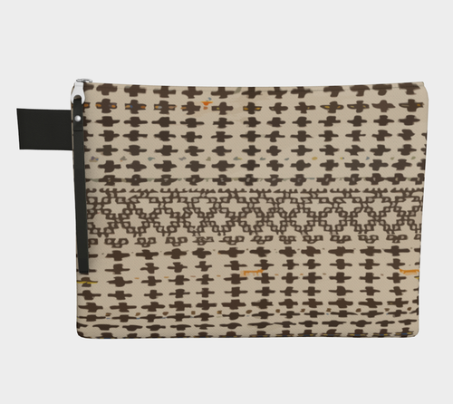 Berber vintage zipper carry-all with bohemian patterns