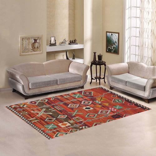 Red Berber Moroccan rug inspiration Area Rug7'x5'