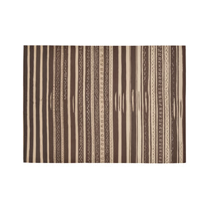 Brown lines Moroccan Rug