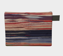 Load image into Gallery viewer, Colorful vintage zipper carry all red and blue bohemian style