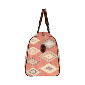 Geometric pattern boho travel bag Waterproof Travel Bag/Small (Model 1639)