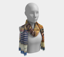 Load image into Gallery viewer, ethnic blue and colorful scarf moroccan pattern
