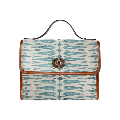 Blue Moroccan inspiration handbag Waterproof Canvas Bag/All Over Print (Model 1641)