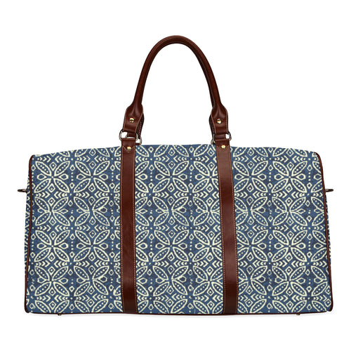 Blue ethnic Travel bag Waterproof Travel Bag/Small (Model 1639)
