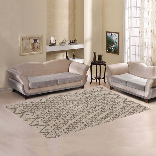 Moroccan rug inspiration with Simple geometric patterns Area Rug7'x5'