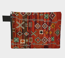 Load image into Gallery viewer, Moroccan red pattern bohemian and vintage zipper carry-all