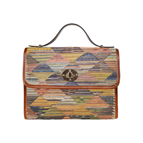 Moroccan geometric modern pattern handbag Waterproof Canvas Bag/All Over Print (Model 1641)
