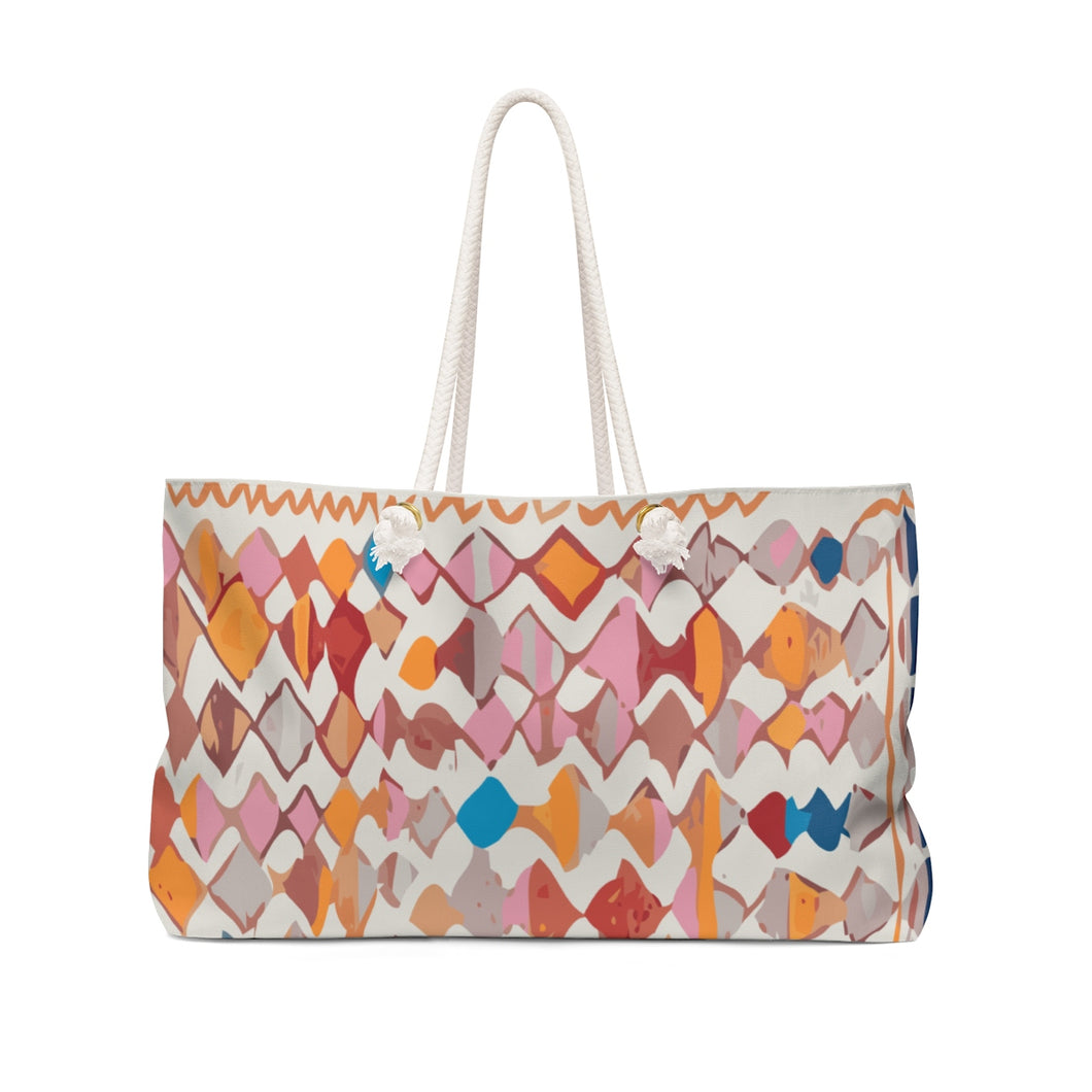 Weekender Bag with multicoloured patterns